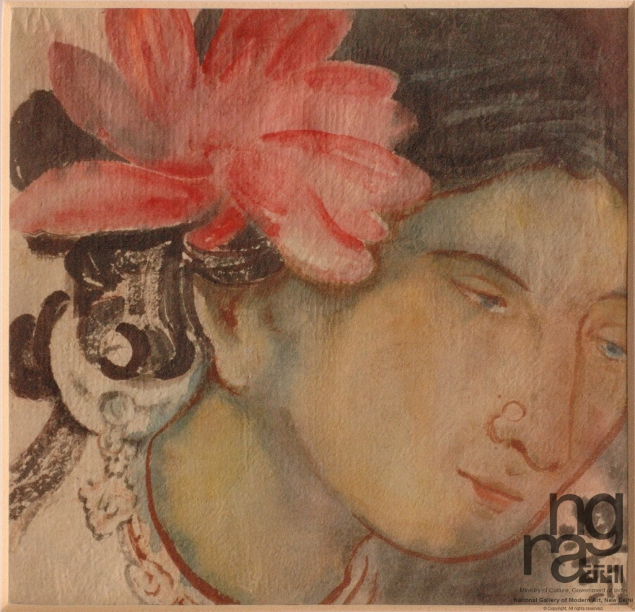 Work by Abanindranath Tagore, Source: NGMA. by .