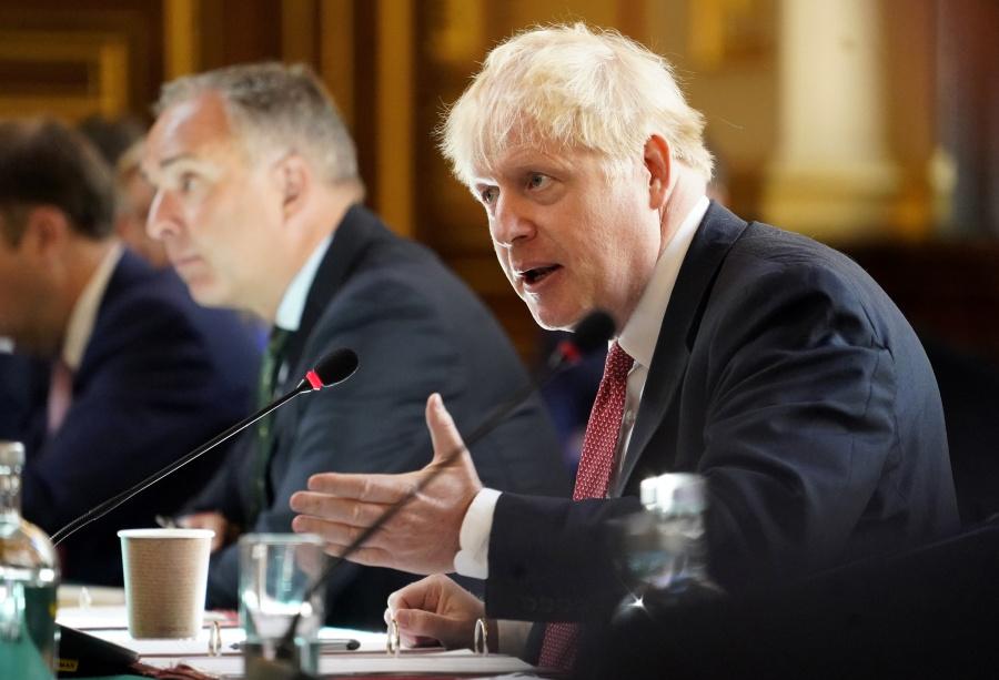 Boris Johnson chairs Cabinet by .