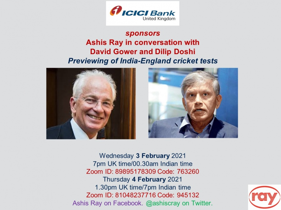 Cover - Ashis Ray in conversation with David Grover and Doshi